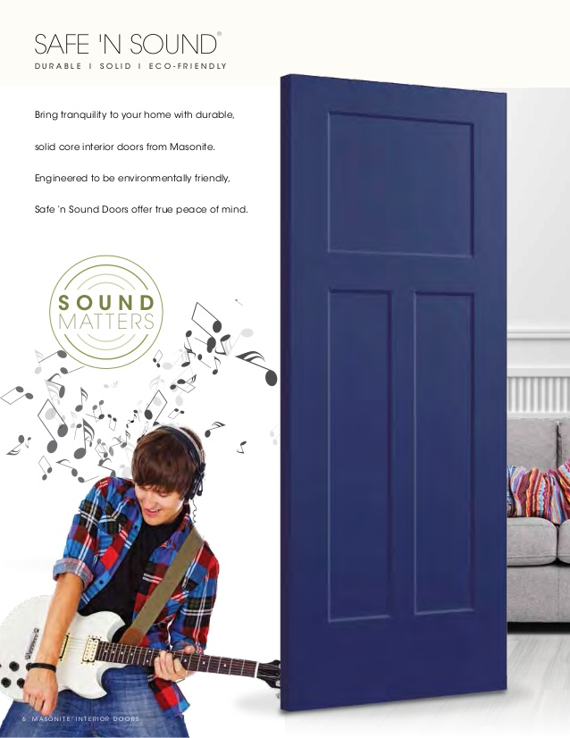 Interior doors Masonite safe n sound interior doors